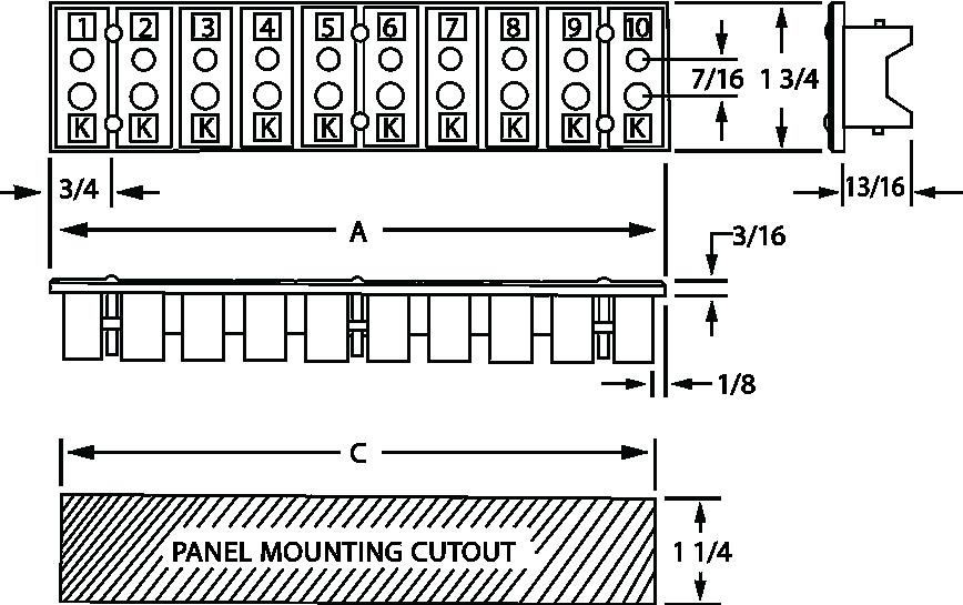 Full-Size, 2-Pole Stripanels 2