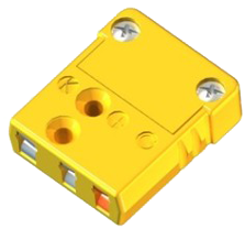 miniature thermocouple connectors for easy mating of small diameter  sheathed thermocouple to extension wires where an electrical interference  noise shield